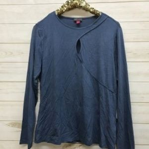 NWT Vince Camuto Keyhole Top Dusty Blue
